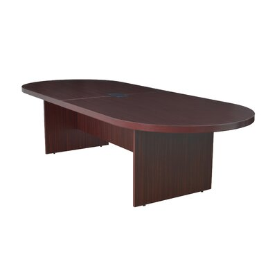 Linh Oval Wood Conference Table Finish: Mahogany, Size: 12 L