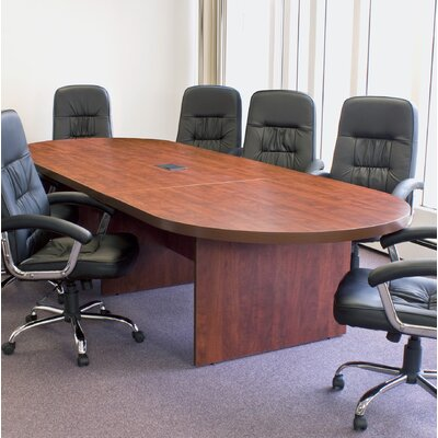 Linh Oval Conference Table Finish: Cherry, Size: 14 L