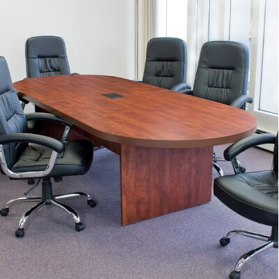 Linh Oval Wood Conference Table Finish: Cherry, Size: 10 L