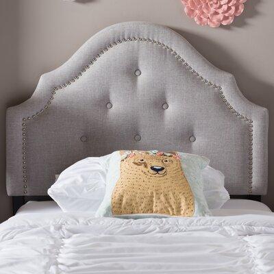 Cragin Twin Upholstered Panel Headboard Upholstery: Grayish Beige