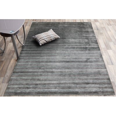 Adamsburg Hand-Woven Silver/Gray Area Rug Rug Size: Rectangle 3 x 5
