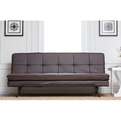 Twedt Convertible Sofa Upholstery: Dark Brown