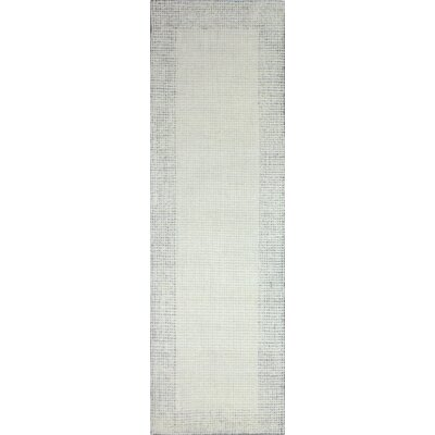 Rommel Hand Tufted Wool Ivory/Silver Area Rug Rug Size: Runner 26 x 8