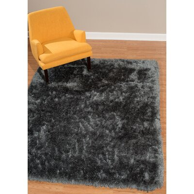 Kristian Dark Gray Area Rug Rug Size: Rectangle  27 x 311