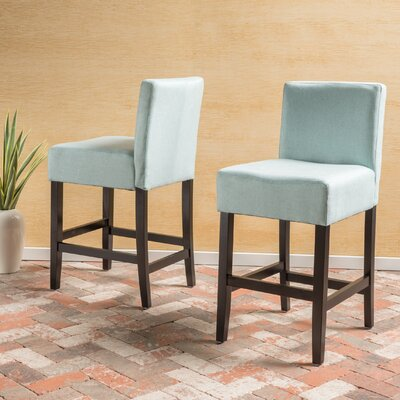Ingleside 26 Bar Stool Upholstery: Light Blue