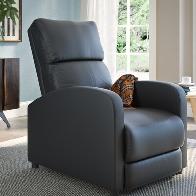 Anneri Manual Recliner Upholstery: Black