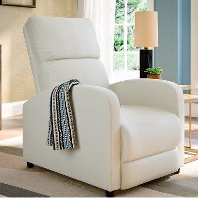 Anneri Manual Recliner Upholstery: White