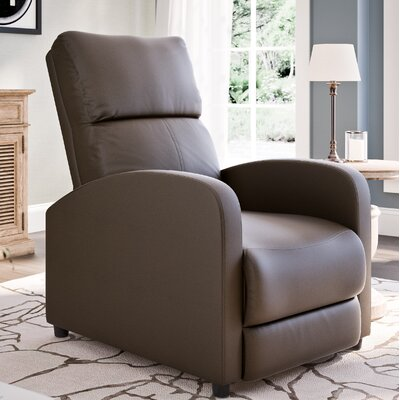 Anneri Manual Recliner Upholstery: Brown