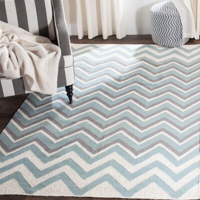 Naomi Hand Woven Blue Area Rug Rug Size: Rectangle 6 x 9