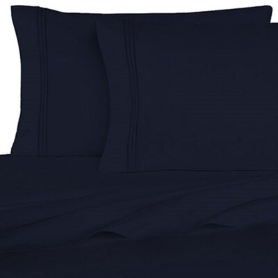 Rycerska 800 Thread Count Super Soft Sheet Set Size: Full, Color: Navy