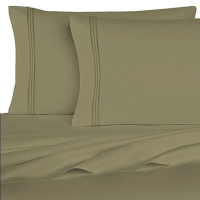 Rycerska 800 Thread Count Super Soft Sheet Set Size: Full, Color: Sage Green