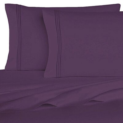 Rycerska 800 Thread Count Super Soft Sheet Set Size: King, Color: Dark Purple