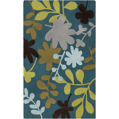 Millington Teal Blue Rug Rug Size: Rectangle 9 x 13