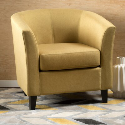 Dorset Barrel Chair Upholstery: Yellow Green