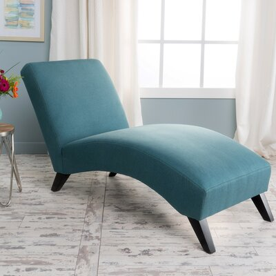 Dunellon Chaise Lounge Upholstery: Teal