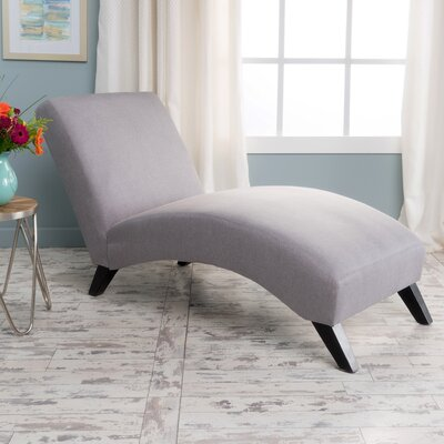 Dunellon Chaise Lounge Upholstery: Light Gray
