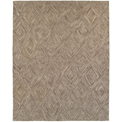 Cecelia Hand-Crafted Beige Area Rug Rug Size: 89 x 119