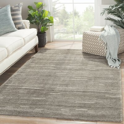 Mcmillen Hand-Tufted Gray Area Rug Rug Size: Rectangle 9 x 12