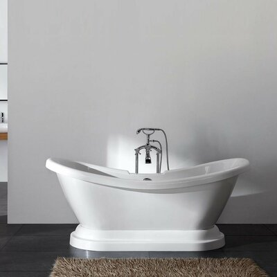 Charlotte 69 x 27 Freestanding Bathtub