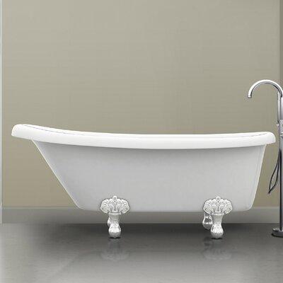 Monroe 67 x 26.3 Claw Foot Bathtub