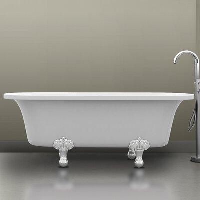 Harlow 67.76 x 25.25 Claw Foot Bathtub