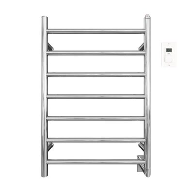 Comfort Wall Mount Electric Towel Warmer with Timer Finish: Stainless Steel Polished