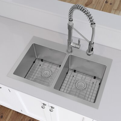 Prestige Series Stainless Steel 30 x 19 Drop-in Kitchen Sink