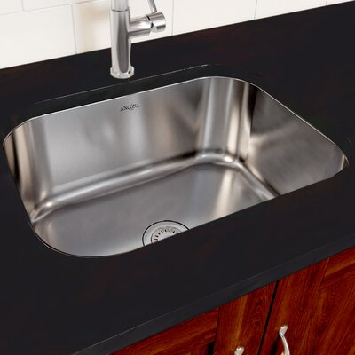Capri Series Stainless Steel 23 x 17.8 Undermount Kitchen Sink with Strainer