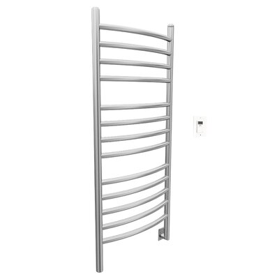 Svelte Rounded Wall Mount Electric Towel Warmer With Timer Finish: Brushed