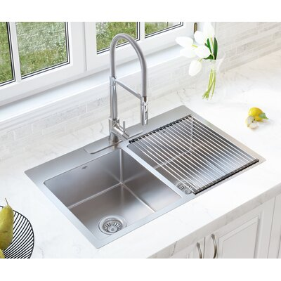 Valencia Series 33 x 22 Double Bowl Dual-Mount Kitchen Sink