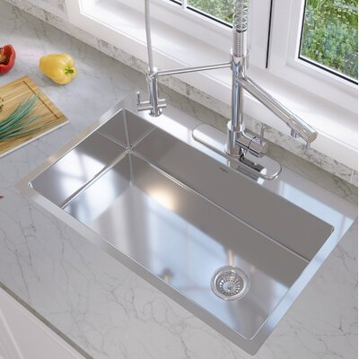 Valencia Series 33 x 22 Single Bowl Drop-in Kitchen Sink