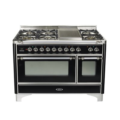 "48"" Free-standing Dual Fuel Range Finish: Gloss Black, Gas Type: Natural Gas UM120SDMPNX"