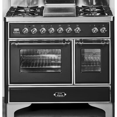 "40"" Free-standing Gas Range with Griddle Finish: Gloss Black, Gas Type: Natural Gas UMD100FDMPNX"
