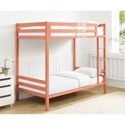 Twin Standard Bunk Bed Color: Coral