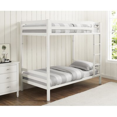 Twin Standard Bunk Bed Color: White