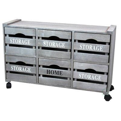 Cabinet Storage 6 Drawer Chest