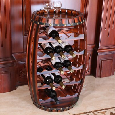 Jeanette Barrel Shaped 23 Floor Wine Bottle Rack