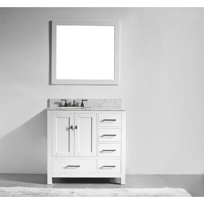San Clemente 36 Single Vanity Set Base Finish: White