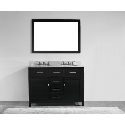 Sverre 48 Double Bathroom Vanity Set with Mirror Base Finish: Espresso