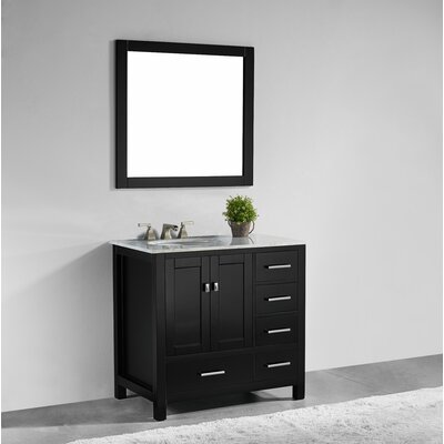 Sverre 36 Single Bathroom Vanity with Mirror Base Finish: Espresso