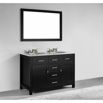 Sverre 48 Double Bathroom Vanity with Mirror Base Finish: Espresso