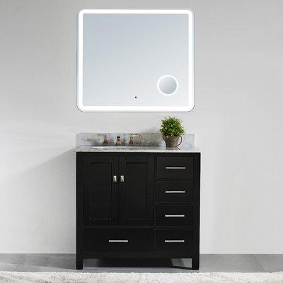 36 Single Bathroom Vanity Set with Mirror Base Finish: Espresso