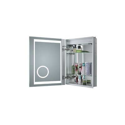 Thalia 20 x 26 Recessed Medicine Cabinet with LED Lighting Orientation: Left Hinge