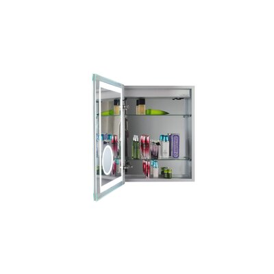 Thalia 16 X 20 Recessed Medicine Cabinet with LED Lighting Orientation: Left Hinge