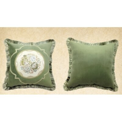 European Floral Throw Pillow Cover