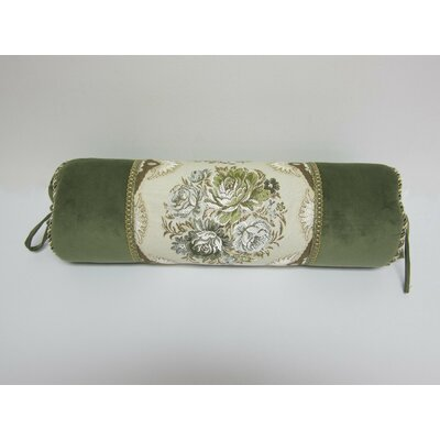 European Floral Bolster Pillow Cover