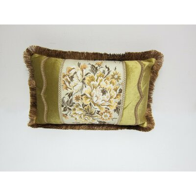 European Floral Decorative Lumbar Pillow Cover