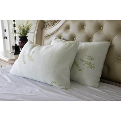 Bamboo Rayon Pillow Size: Queen