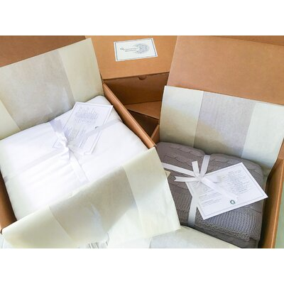 Certified Organic 300 Thread Count Cotton Sheet Set Size: Queen, Color: White