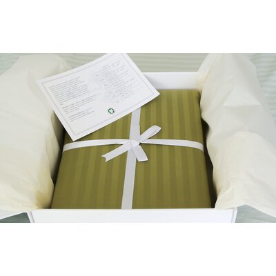 3 Piece Reversible Duvet Cover Set Size: King, Color: Olive Green